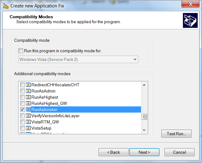 Create new Application Fix - Step 2
