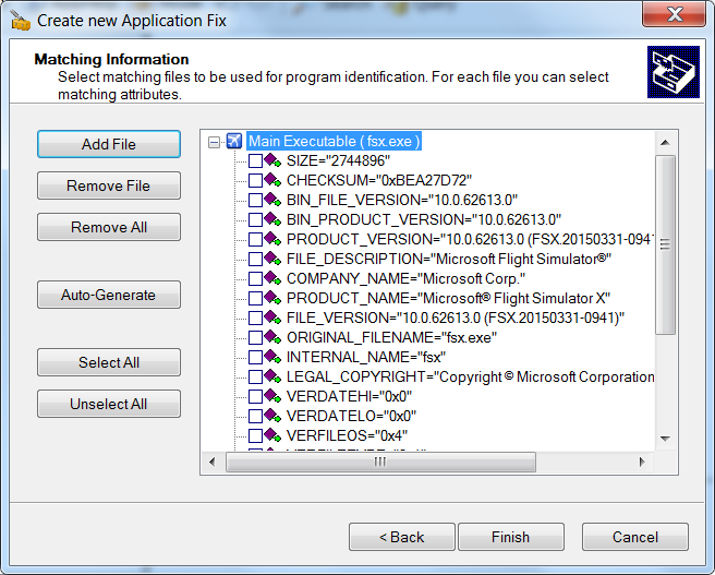 Create new Application Fix - Step 4